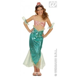 Costum mica sirena - marimea 128 cm