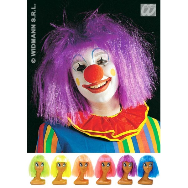 Peruca de clown unisex