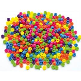 Margele din plastic culori de baza neon