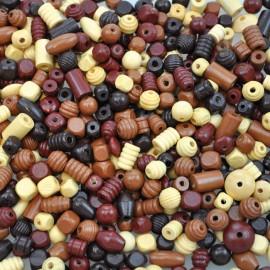 Margele din lemn culori natur