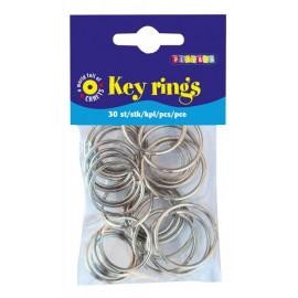 Inele metalice pentru chei si brelocuri