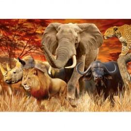 Puzzle cele cinci mari animale 1000 piese