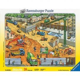 Puzzle constructii pe santier 38 piese