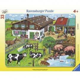 Puzzle familii de animale 33 piese