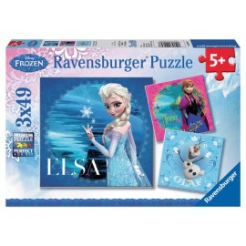 Puzzle frozen elsa anna si olaf 3x49 piese
