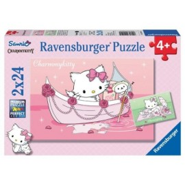 Puzzle hello kitty 2x24 piese