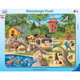 Puzzle la zoo 47 piese