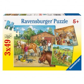 Puzzle lumea cailor 3x49 piese
