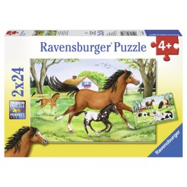 Puzzle lumea cailor 2x24 piese