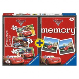 Puzzle memory disney cars 3 buc in cutie 152025 piese