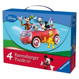 Puzzle mickey si prietenii 2x25 piese2x36 piese