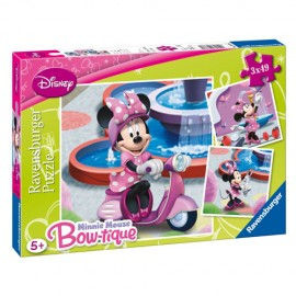 Puzzle minnie mouse in parc 3x49 piese