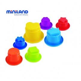 Miniland - Piramida din cupe pentru bebelusi