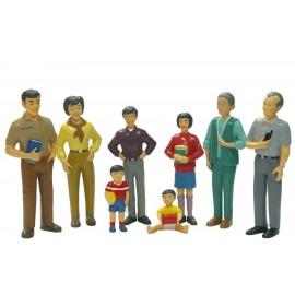 Figurine Familie Asiatica imagine