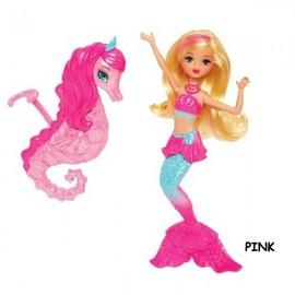 Barbie Papusa Mini-sirena cu calut de mare - Mattel