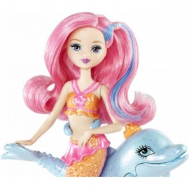 Barbie Papusa Mini-sirena cu delfin - Mattel