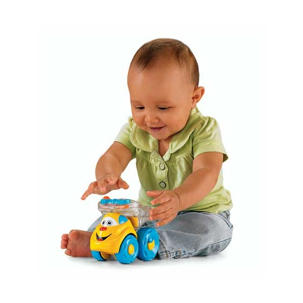 Fisher Price Brilliant Basics Poppity Pop Dump Truck - Camionul Buclucas
