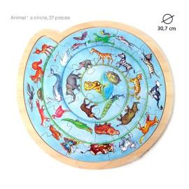 Puzzle rotund Cercul animalelor
