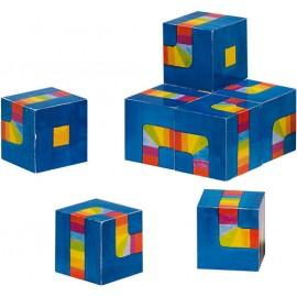 Mini puzzle cuburi Labirintul colorat