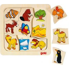 Joc puzzle de asociere Casutele animalelor 2