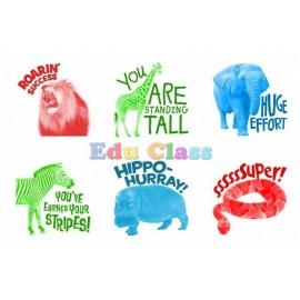 Stampile pentru copii - animale din savana
