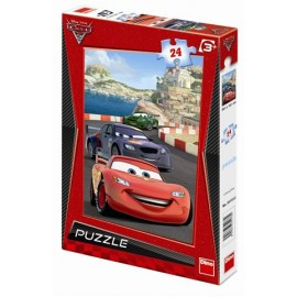 Puzzle - cars in cursa (24 piese)