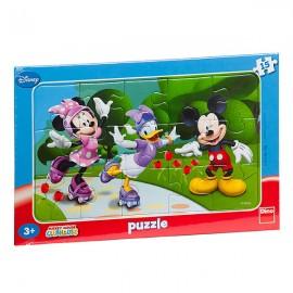 Puzzle - minnie si prietenii (15 piese)