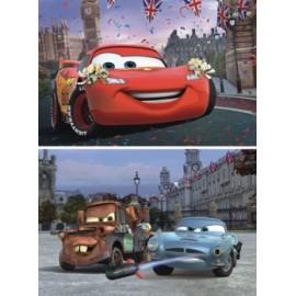 Puzzle 2 in 1 - cars - lightning mcqueen si prietenii (66 piese)