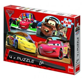 Puzzle 4 in 1 - cars (54 piese)