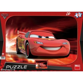 Puzzle cars - lightning mcqueen (12 piese)