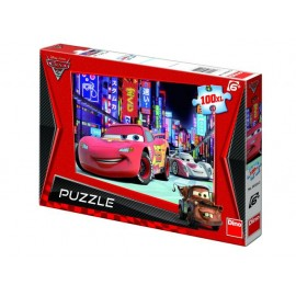 Puzzle cars - lightning mcqueen in tokyo (100 piese xl)