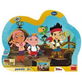 Puzzle cu rama - jake si piratii (25 piese)