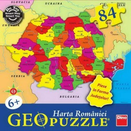 Puzzle geografic - harta romaniei (49 piese)