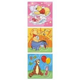 Set de puzzle-uri - ursuletul winnie (3-5 piese)