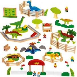 Joc din lemn Parcul dinozaurilor