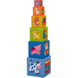 Turnulet din cuburi - 6 piese