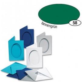 Set 5 Felicitari Decupaj Oval Verde imagine