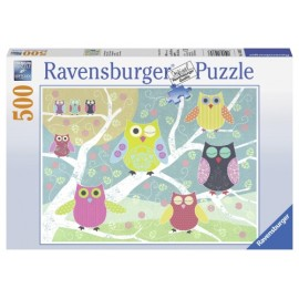 Puzzle bufnite colorate 500 piese