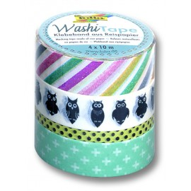 Banda adeziva decorativa Owls