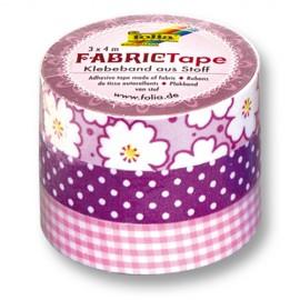 Banda textila adeziva Roz