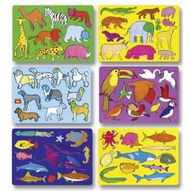 Set sabloane Lumea animalelor
