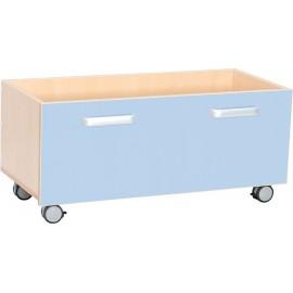 Cutii pentru depozitare cu roti – albastru deschis – Flexi