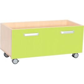 Cutii pentru depozitare cu roti – verde – Flexi