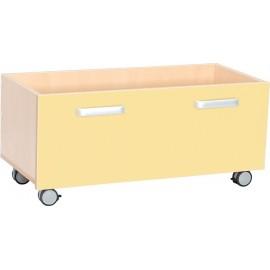 Cutii pentru depozitare cu roti – galben – Flexi