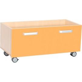 Cutii pentru depozitare cu roti – portocaliu – Flexi