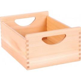Cutie depozitare inalta din lemn de fag – natural - Flexi