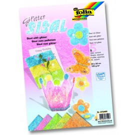 Sisal colorat pastel glitter 5