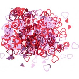 Confetti stralucitoare – inimi , 2