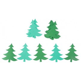 Brazi din carton colorat, verde