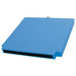 Saltea cu colturi decupate – albastru